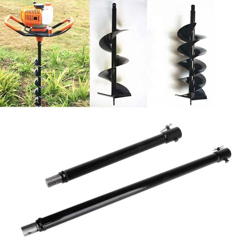 Newest 1pcs 33.3/52.3cm Extension Auger Bit Extended Length Drill Bits For Hole Digger Earth Augers Plant Garden Tool