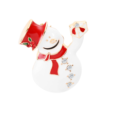 Merry Christmas Theme Brooch Pin Cute Snowman Topper Best Gift For Friends And Lovers
