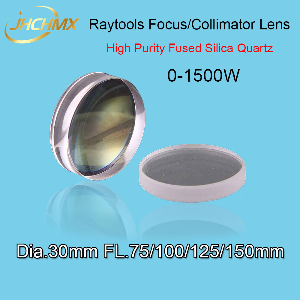 Free Shipping Fiber Laser Focus Lens/Collimator Lens Dia.30 Fl.75/100/125/150mm For Raytools BT240 0-1500W Laser Cutting Head raytools bt240 fiber laser cutting head for laser cutting machine high performance 1000w 1500w