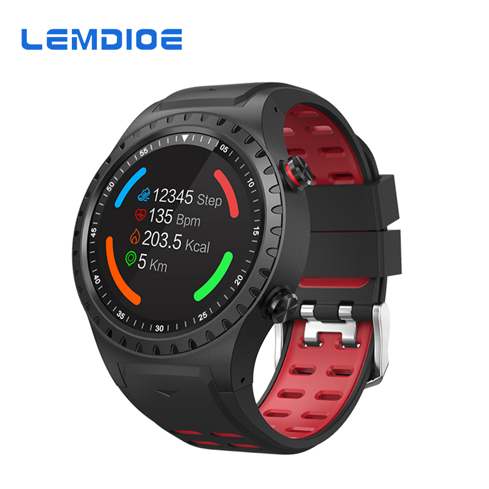 LEMDIOE Smart Watch Men Support GPS SIM Card IP67 Waterproof Professional Sport Modes Outdoor Activity Tracker For Android IOS цена