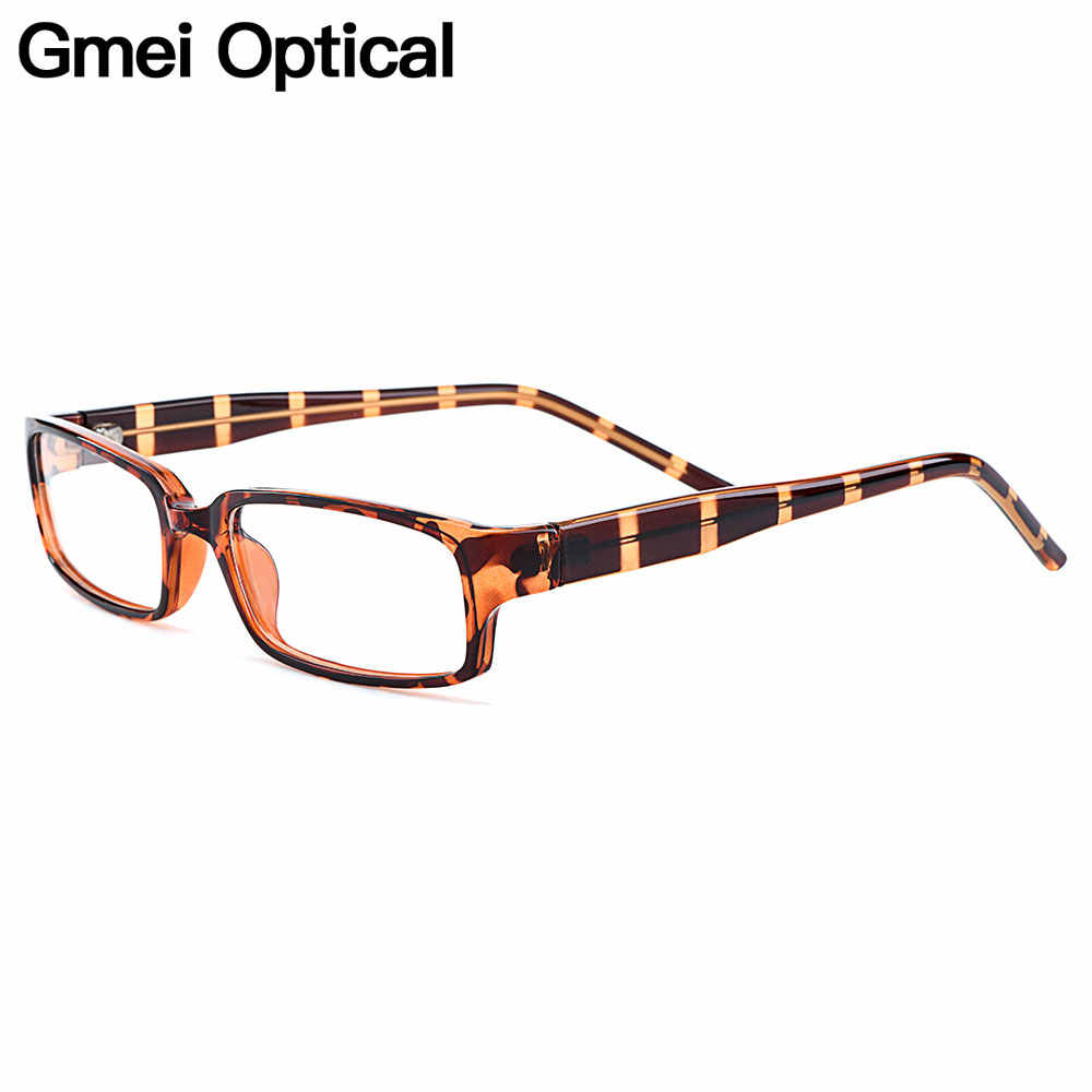 Gmei Optik Trendi Persegi Panjang Penuh Rim Plastik Bingkai Kacamata untuk Pria dan Wanita Miopia Presbyopia Resep Kacamata H8007