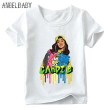 Bambini Hip Hop Rapper Cardi B Della Stampa maglietta Del Bambino Dei  Ragazzi Ragazze di Estate Manica Corta T-Shirt Per Bambini. 256f1c0d84d3