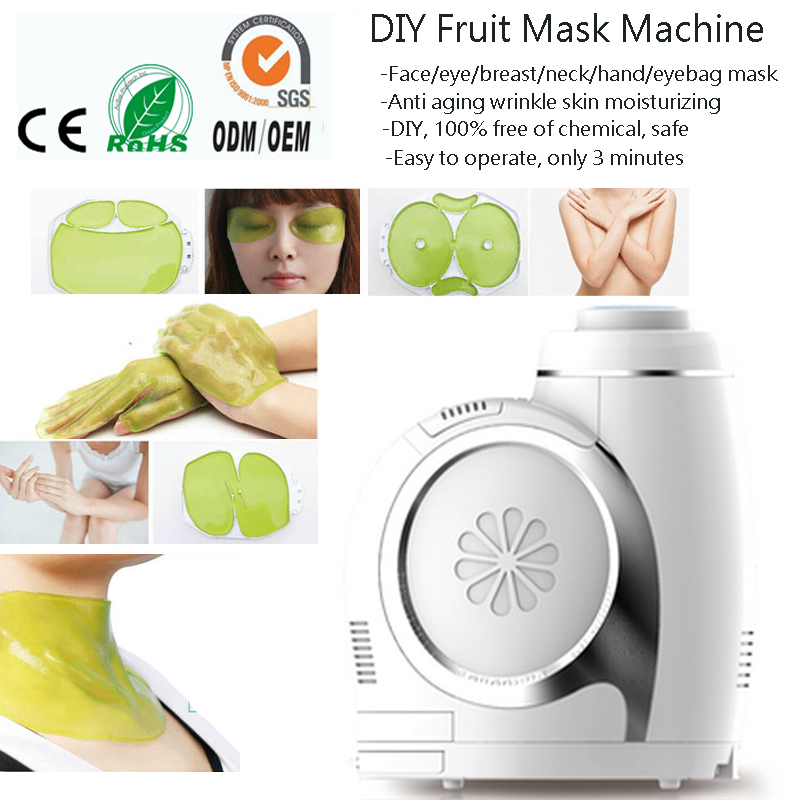 6 IN 1 DIY Face Neck Eye Hand Breast Skin Moisturizing Whitening Wrinkle Removal Vegatable Fruit Mask Maker Beauty Machine dhl free shipping 6 in 1 diy face eye hand breast foot neck natural fruit