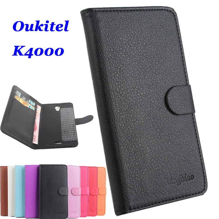9 colors Classic Leather case For Oukitel K4000 Flip Cover case housing With Card Slot for Oukitel K 4000 Phone Cover Cases