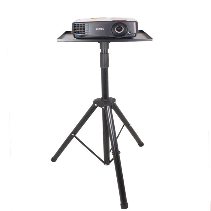 Universal Folding Projector Stand Tripod With Plate 39X29CM Foam Mat Included Speaker DVD Holder Laptop Floor Stand