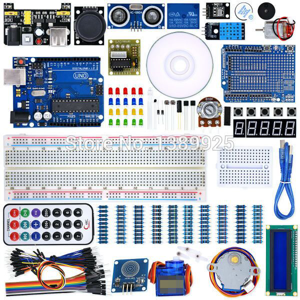 Weikea dz UNO projet Super Kit de démarrage avec leçons CD, relais, UNO R3, fil de démarrage, servomoteur SG90, Module Joystick pour commencer