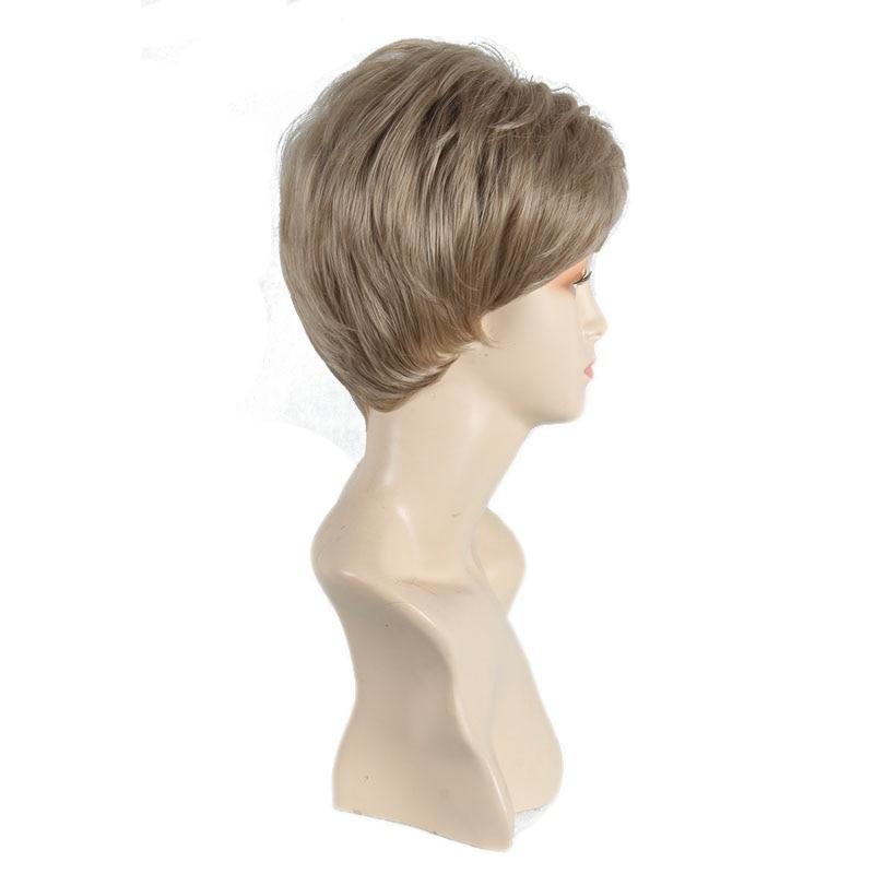 Kvinnlig Charmig Kort Rett Syntetisk Paryk för Svarta Kvinnor Blond - Syntetiskt hår - Foto 2