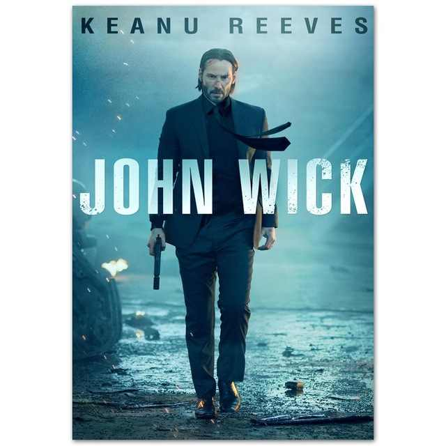 John Wick Keanu Reeves Gun Shoot SILK POSTER Wall painting 24x36inch