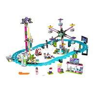 BELA 10563 Amis Parc D'attractions Roller Coaster 41130 Building Block Sets Modèle Classique BRICOLAGE Jouets Pour Enfants Cadeaux De Noël