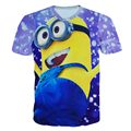 Alisister New Fashion 2017 men/womens Galaxy T Shirt Printed Despicable Me Minions t-shirt Casual 3d Harajuku Cartoon Tee Shirt