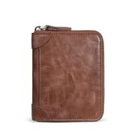 Small Short Handy Genuine Leather Rfid Men Wallet Purse Male Clutch Bag Coin Money Wallets Mini Slim Holder Men Wallets 2018 New