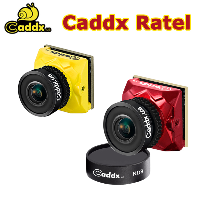 Caddx Ratel FPV Camera 1/1.8'' Starlight HDR OSD 1200TVL NTSC/PAL 16:9 4:3 ND8 Lens 1.66mm 2.1mm Lens For RC FPV Racing Drone(China)