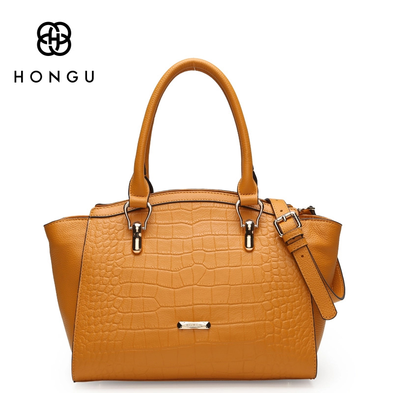 HONGU 2017 Luxury Brand Women Leather Handbag Crocodile Pattern Handbag Crossbody Bag Summer Style Tote Bag Hot Sale G hot sale 2016 women leather bag women s handbag crocodile pattern crossbody bag for women pendant lady bags tote bolsas qt2020