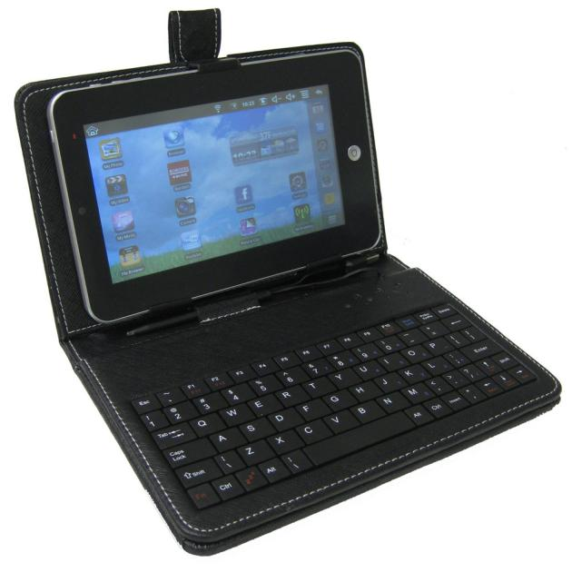 Universal 7 inch Tablet PC PU Leather Stand Cover With Micro USB font b Keyboard b
