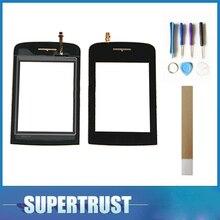 Для Philips x331 Переднее стекло дигитайзер сенсорный экран панель сенсор Черный цвет с клейкие ленты и инструменты