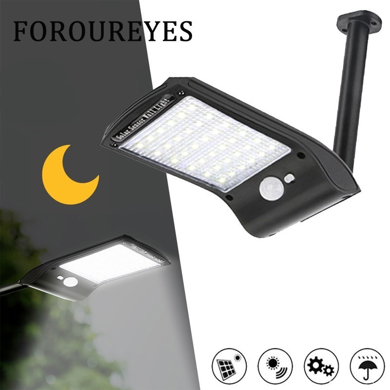 LED Solar Light Outdoor PIR Motion Sensor Wall Light 180 Degree Adjustable Waterproof IP65 Yard Path Home Garden Solar Lamp