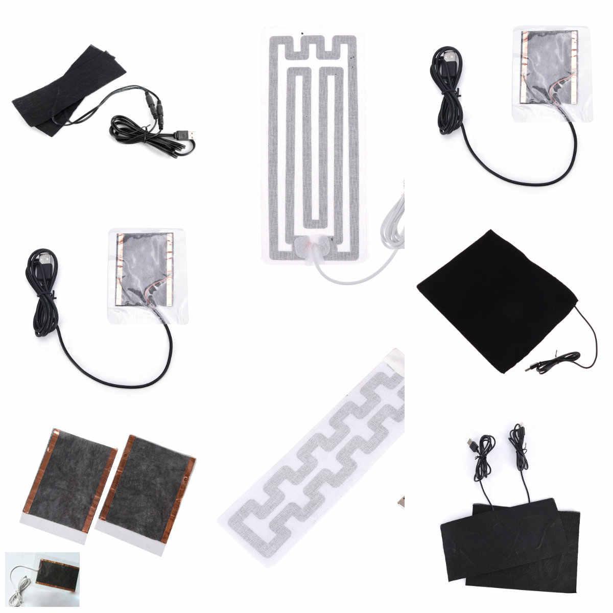 Ciepła tylna szyja szybko nagrzewająca się poduszka elektryczna z włókna węglowego ogrzewacz dłoni USB folia grzewcza elektryczna zimowa gorączka podczerwieni mata grzewcza