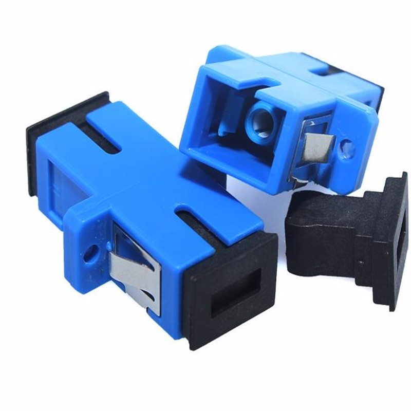US $35 0 |100pcs/lot Digital Communications SC SC Single/Multi Mode Simplex  Flange Coupler SC/UPC Adapter-in Fiber Optic Equipments from Cellphones &