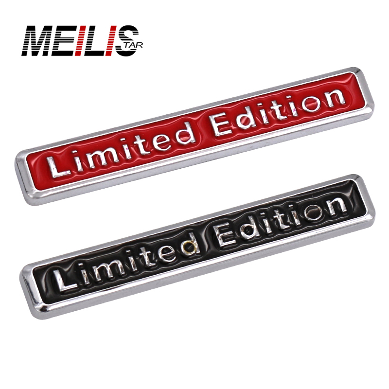 3D Chrome Black Metal Sticker Car Styling Limited Edition Emblem Badge Logo Motorcycle Decal For Audi Q3 A4 Q5 A6 A4L A6L R8 Q7 1pc 7x5 5cm 3d aluminum alloy auto car chrome badge sticker for saab 9 3 9 5 93 900 9000 emblem sweden decal car logo sticker