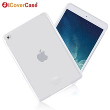 Protector Case For Apple iPad Mini 4 Mini4 Silicon Cases Cover Clear Color Soft