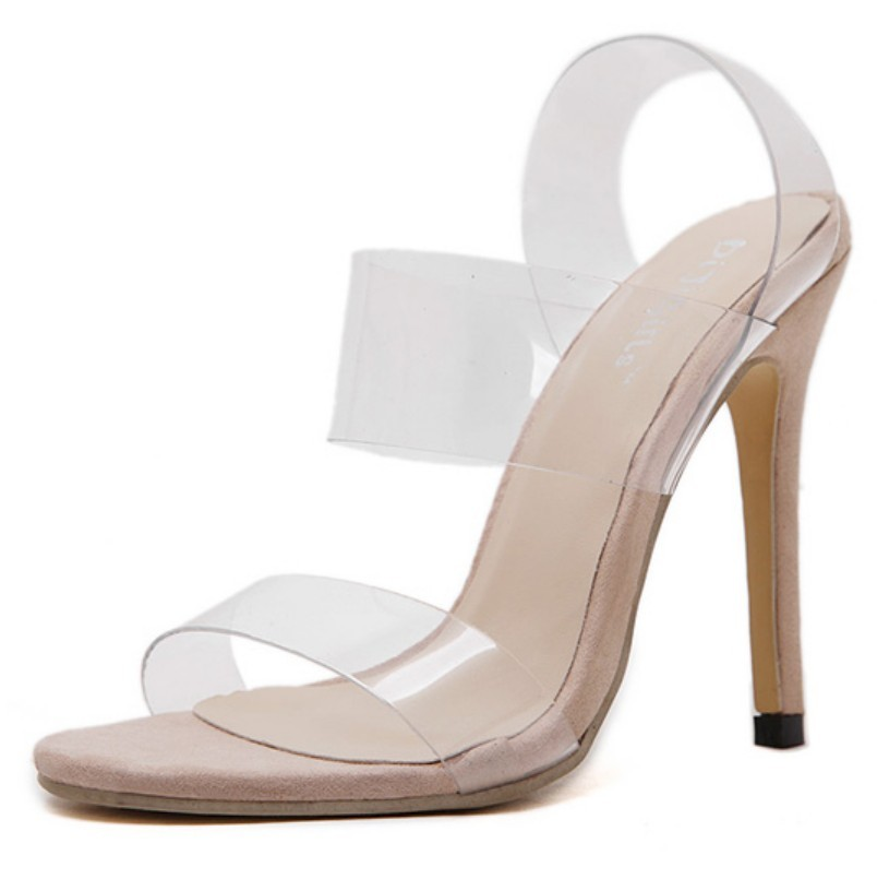 Online Buy Wholesale clear strap heels from China clear strap