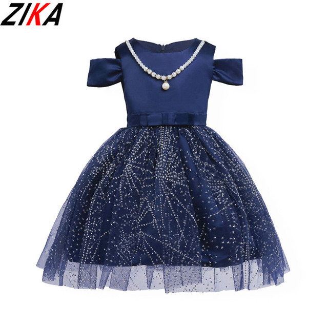 ZIKA Princess Flower Girl Dress Summer 2017 Wedding Birthday Party Dresses  For Girls Children s Costume Teenager Prom Designs3-9 7f5be6bc68bd