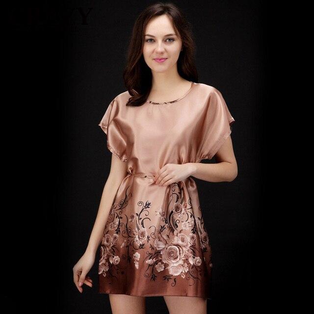 Top Sale Nightgowns Sleepshirts 2017 Plus Size home Bathrobe female Women Sleepwear Dress Gown Intimissimi