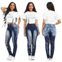 New Mix Juniors Womens Blue Denim Stretch Jeans Skinny Ripped Distressed Pants