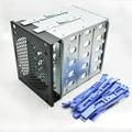 "Plastic & Steel 5 Baías SSD Caixa de Proteção Para 3.5 ""SAS SATA IDE hdd Proteger Caso 5-bay externo SSD docking station"