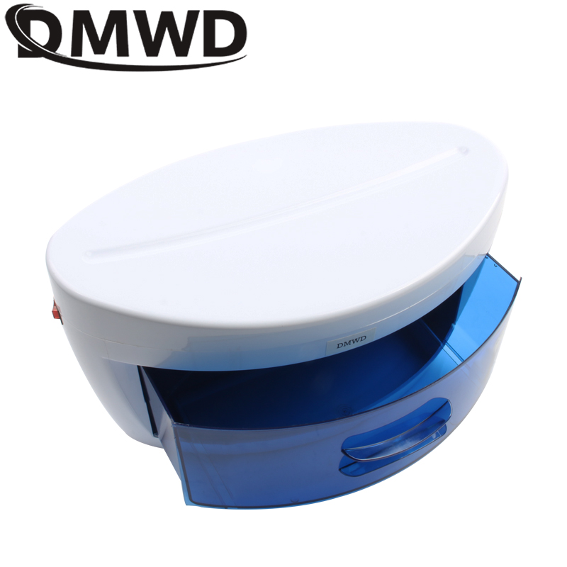 DMWD Mini Ultraviolet Sterilizer UV Disinfection Cabinet Nail Art Salon Disinfector Towel Sterilizing Manicure Box 110V 220V EU bluerise single double layers uv sterilizer box safe efficient disinfection nail art tools manicure ultraviolet sterilizing