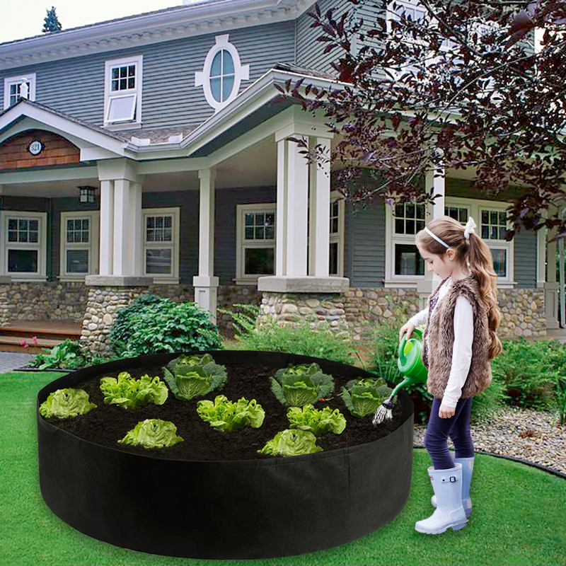 Breathable Felt Growing Bag Large Vegetable Potato Flower Pot Garden Planting Anti-Corrosion Raised Planting Bed Container(China)