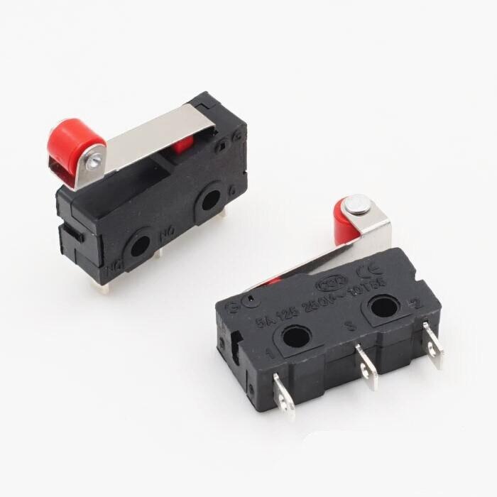 10 шт. концевой выключатель, 3 Pin N/O N/C высокое качество все новые 5A 250VAC микро-переключатель шкив KW12-N