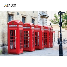 Laeacco England London Street Telephoto Booth Scenic Photography Background Custom Vinyl Photographic Backdrops For Photo Studio