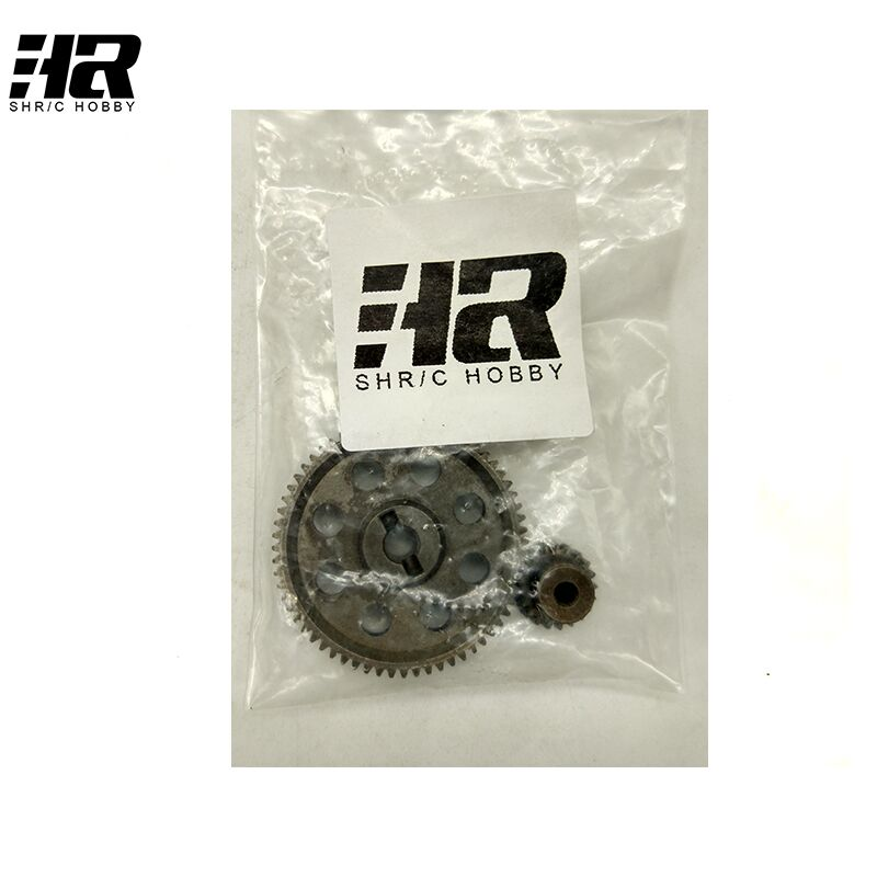 RC car 11184 steel metal diff.main gear 64T 11181 motor gear 21T RC parts for 1/10 HSP monster truck himoto redcat brateck km20 21t