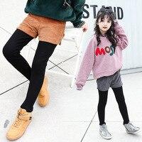 Girls Skirt Pants 2018 New Winter Plus Velvet Warm Kids Clothes Leggings Girls Trousers Children Clothing 4 6 8 10 12 13 Years