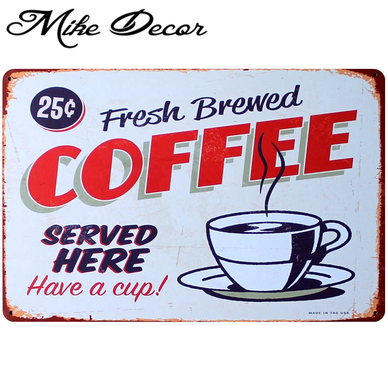 Back To Search Resultshome & Garden Home Decor Mike86 Fresh Brewed Coffee Served Here Poster Tin Sign Art Wall Decor Cafe Bar Retro Metal Signs Aa-31 Mix Order 20*30 Cm To Invigorate Health Effectively