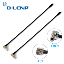 Dlenp antena 2 peças 4g lte com conector ts9 ou crc9, para huawei e398 e5372 e589 e392 zte mf61 mf62 placa de ar 753s 5dbi ganho