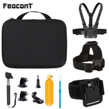 Action Camera Accessories Kits For Gopro Hero 7 6 5 Case Buoyancy Rod Straps Mounts For Gopro Here 7 4 Session Accessories Yi 4K