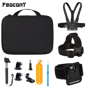 Image 1 - Action Camera Accessories Kits For Gopro Hero 7 6 5 Case Buoyancy Rod Straps Mounts For Gopro Here 7 4 Session Accessories Yi 4K