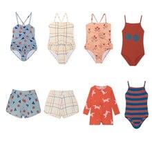 2019 Детские купальники для девочек Симпатичные цельный купальник для мальчиков шорты купальные для доски футболка пляжный отдых одежда для малышей