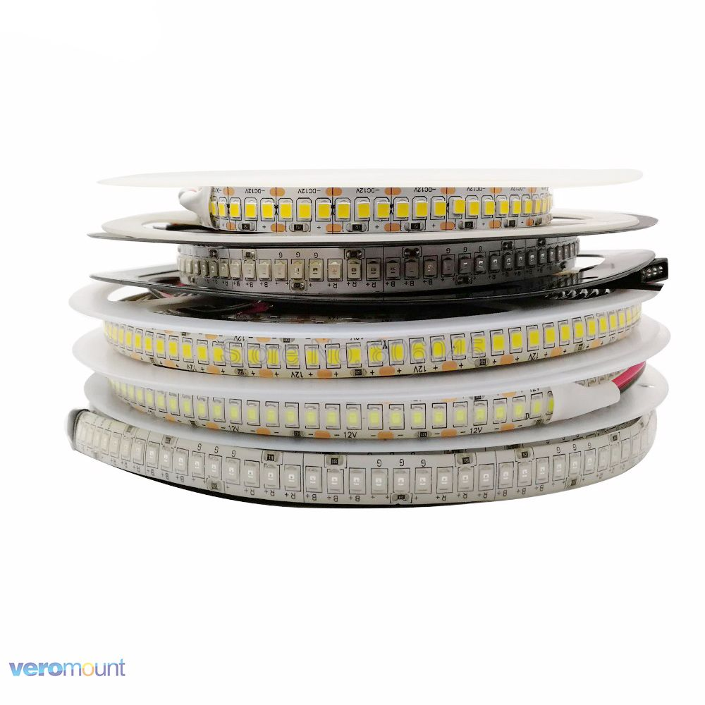 1800lm/m High CRI>80 5m 1200 LED 2835 LED Strip Light 12V Flexible LED Tape Ribbon 240 Led/m LED Strip White Warm White Blue RGB