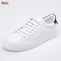INOE 2017 New Fashion Style Genuine Cow Leather Casual Spring Shoes For Men Flats Leisure Summer