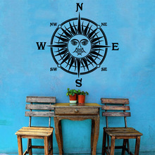 Cute compass sun Wall Sticker Home Decoration Accessories Kids Room Nature Decor Removable Decor Wall Decals цена