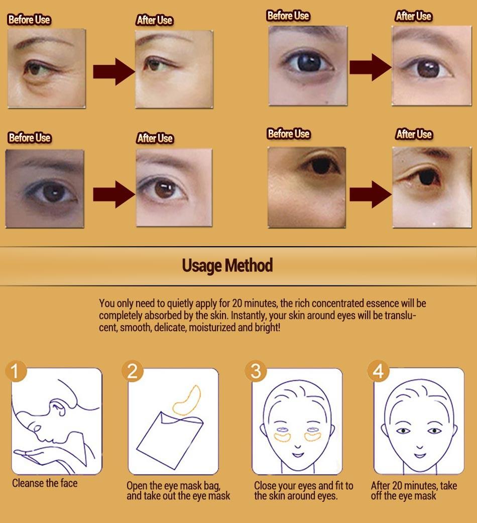 BIOAQUA Brand water embellish Crystal eye Mask nourish moisture fade fine lines dark circles eye care eye patch 7