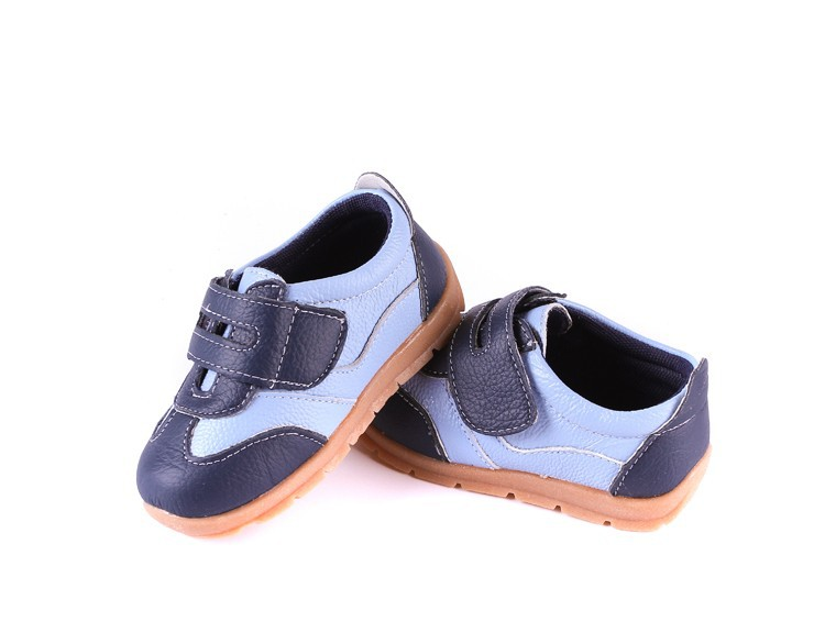 SandQ baby Boys sneakers soccers shoes girls sneakers Children leather shoes pink red black navy genuine leather flexible sole 9
