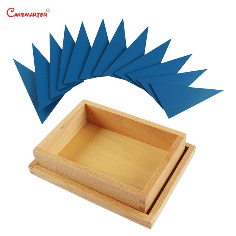 Triangle bleu Tangram Puzzle en bois Montessori Puzzle maths jouets jeu éducatif Puzzle pour enfants jouets sensoriels SE032-38