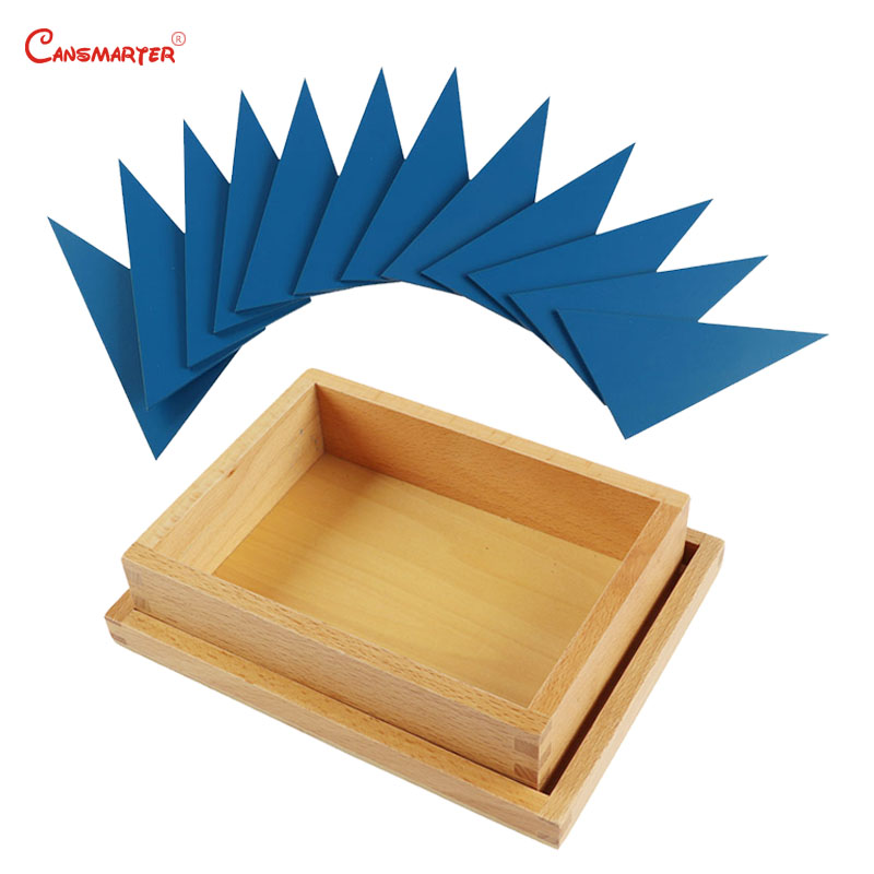 Triangle bleu Tangram Puzzle en bois Montessori Puzzle maths jouets jeu éducatif Puzzle pour enfants jouets sensoriels SE032-3