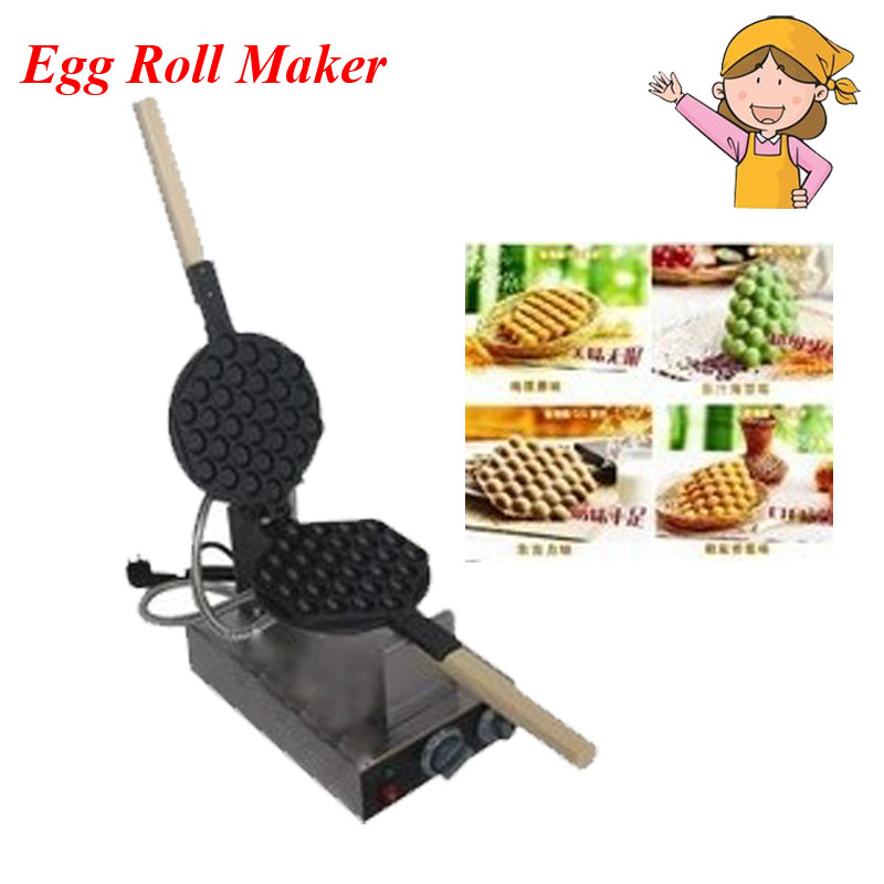Practical Kitchen Electric Waffle Maker Machine/ 110v/220V Non-stick Egg Making wtith Good Quality FY-6 non stick egg roll maker 110v 220v practical cake baker kitchen electric waffle maker machine with good quality fy 6