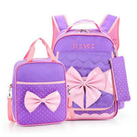 Fashion Cute Children School Bags For Girls Princess Backpack With Bow Mochilas Bag Girl Orthopedics Schoolbag 3 6 Grade