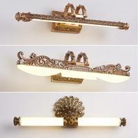 Retro European Mirror Front Light Mirror Cabinet Lighting Waterproof Makeup Lamp LED Wall Lamps Bathroom Light Mirror Lights